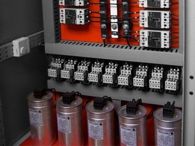Batería de condensadores para compensar la energía reactiva