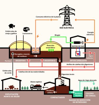 planta de biogás eficiencia energética